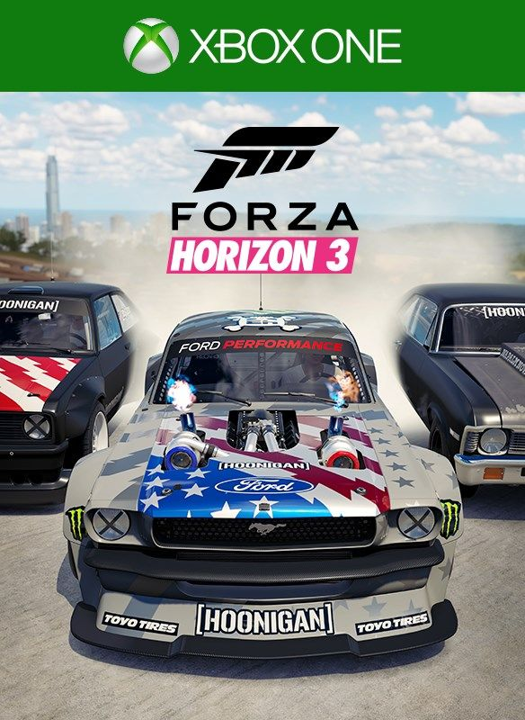 forza horizon 3 hoonigan car pack 2017 xbox one box cover art mobygames. Black Bedroom Furniture Sets. Home Design Ideas