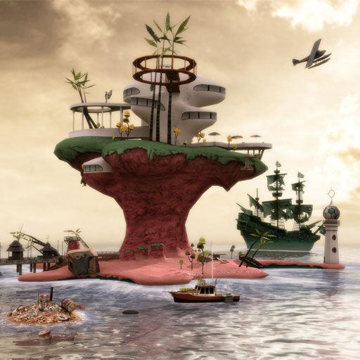 Gorillaz: Escape to Plastic Beach iPhone Front Cover iTunes release