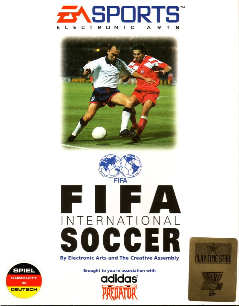 FIFA International Soccer DOS Front Cover