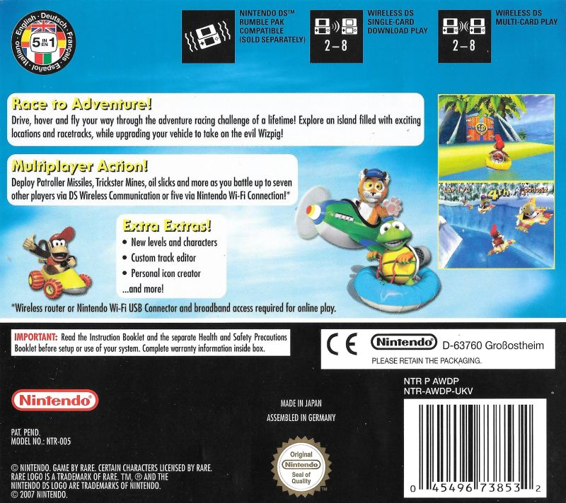 Diddy Kong Racing Ds 2007 Nintendo Ds Box Cover Art Mobygames