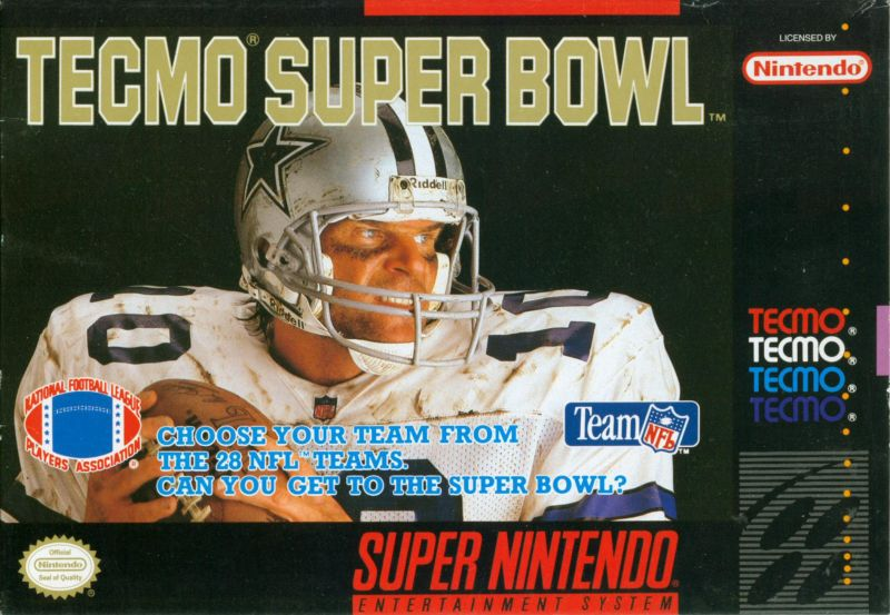 Tecmo Super Bowl SNES Front Cover