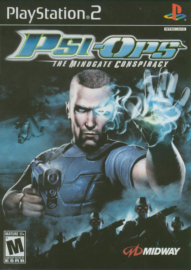 Psi-Ops: The Mindgate Conspiracy PlayStation 2 Front Cover