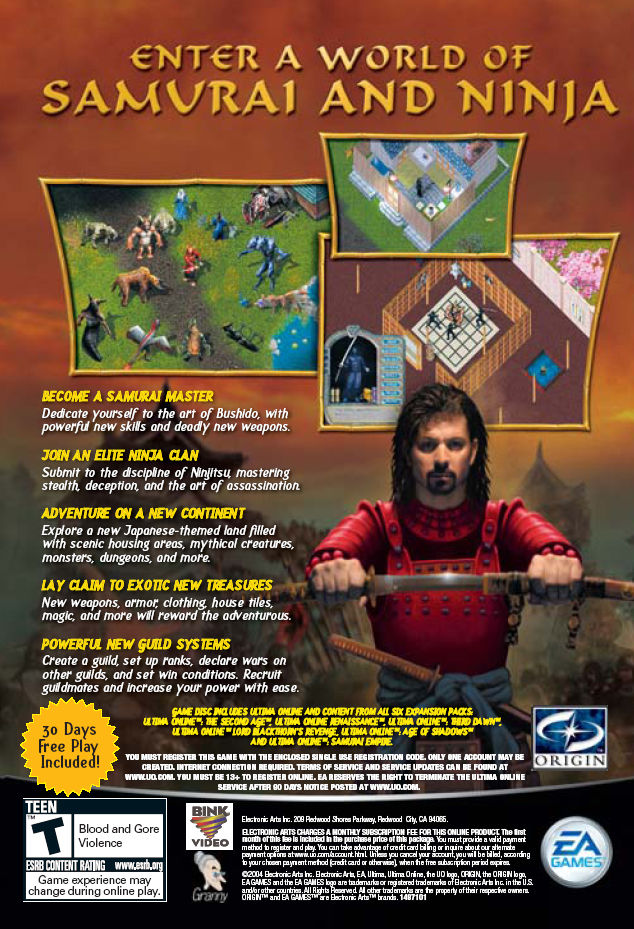 Ultima Online: Samurai Empire Windows Back Cover