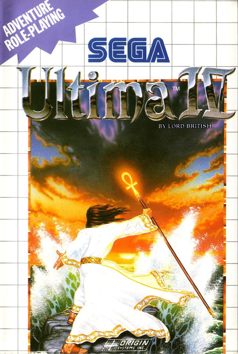 Ultima IV: Quest of the Avatar SEGA Master System Front Cover