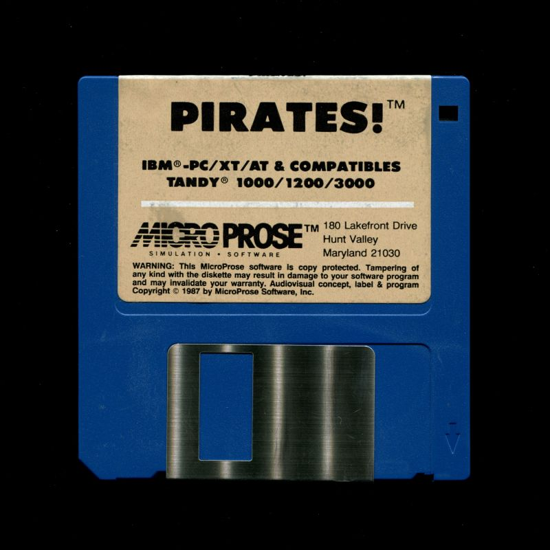 Sid Meier's Pirates! PC Booter Media 3.5'' Disk - Back