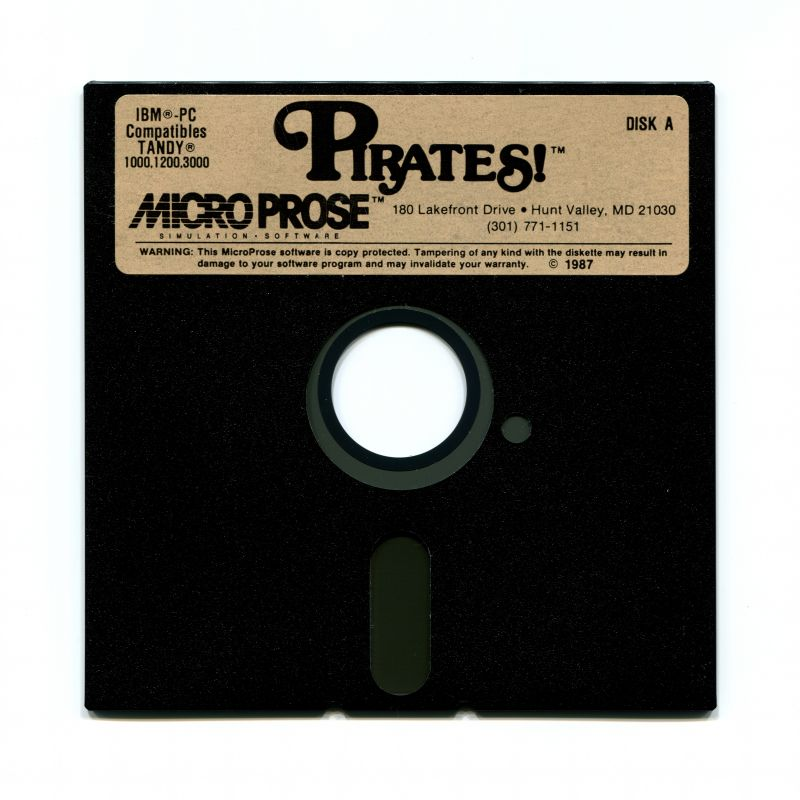 Sid Meier's Pirates! PC Booter Media 5.25'' Disk A