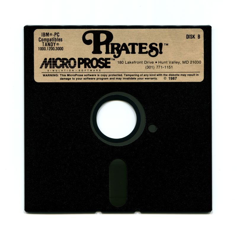 Sid Meier's Pirates! PC Booter Media 5.25'' Disk B