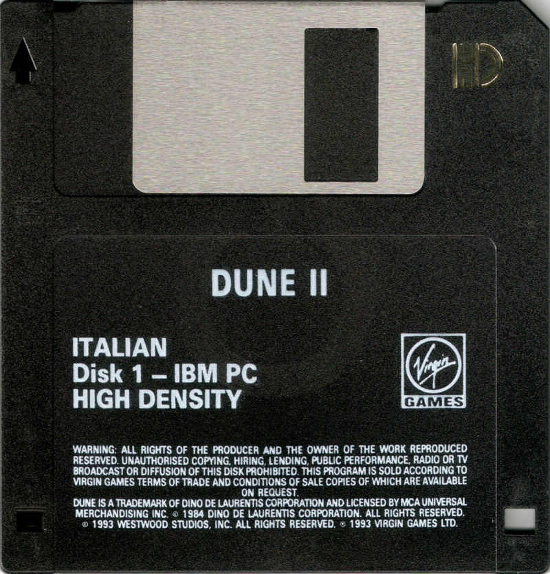 Dune II: The Building of a Dynasty DOS Media Disk 1