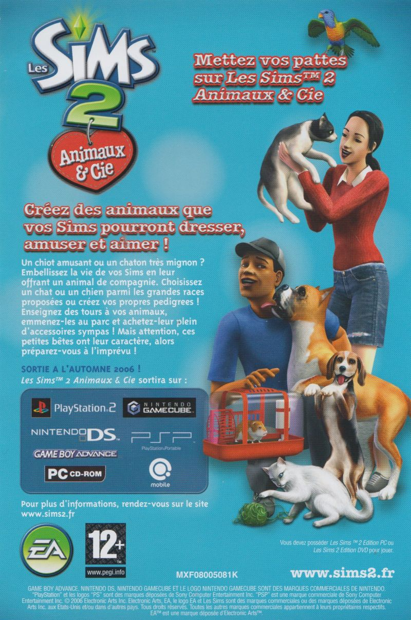 The Sims 2 Glamour Life Stuff Windows Advertisement Pets