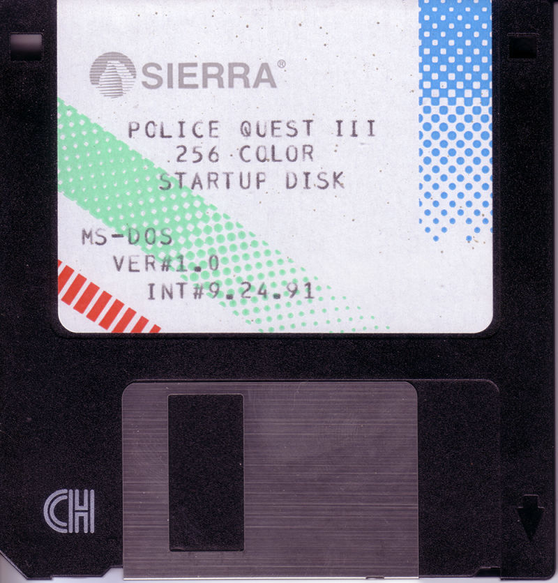 Police Quest 3: The Kindred DOS Media Startup Disk