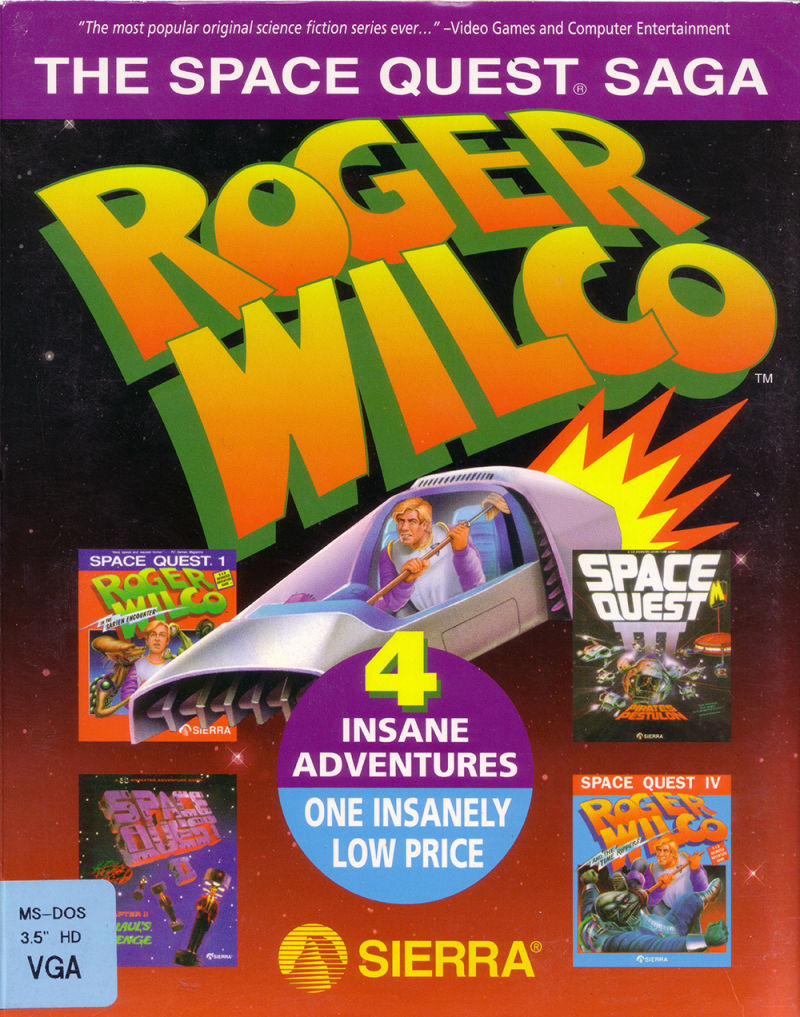 The Space Quest Saga: Roger Wilco DOS Front Cover