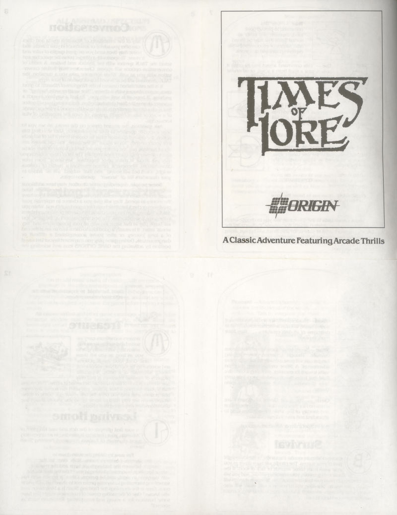 Times of Lore ZX Spectrum Other Foldable instructions 1