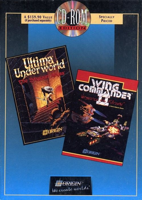 Ultima Underworld: The Stygian Abyss / Wing Commander II: Vengeance of the Kilrathi (CD-ROM Edition) DOS Front Cover