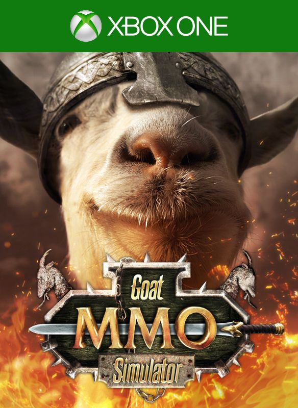Goat Simulator: MMO Simulator (2016) Xbox One box cover art - MobyGames