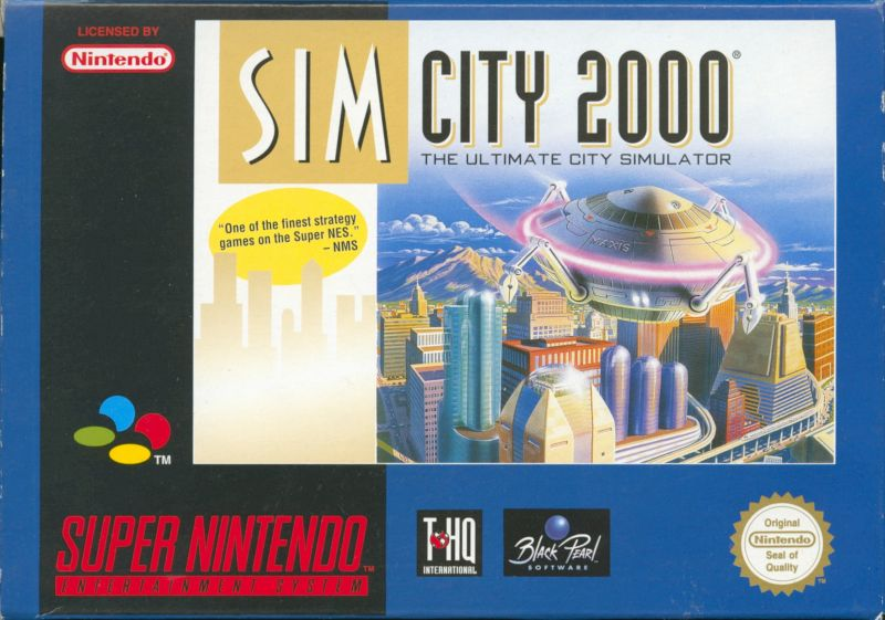 SimCity 2000 SNES Front Cover