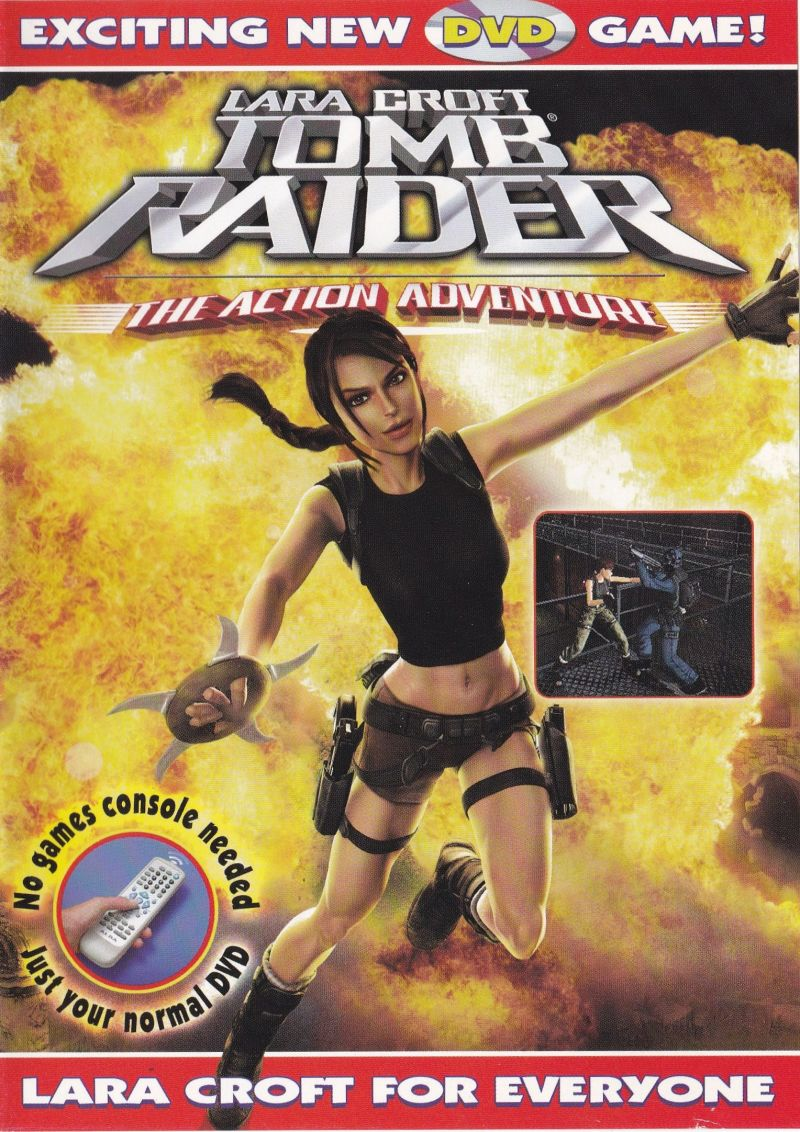 Lara Croft: Tomb Raider - The Action Adventure DVD Player Front Cover