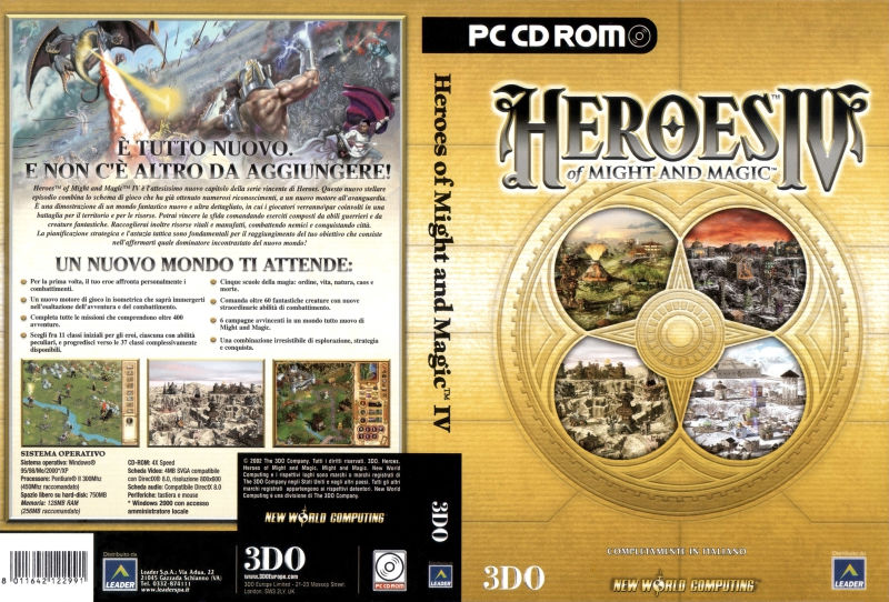 Heroes of Might and Magic IV Windows Full Cover