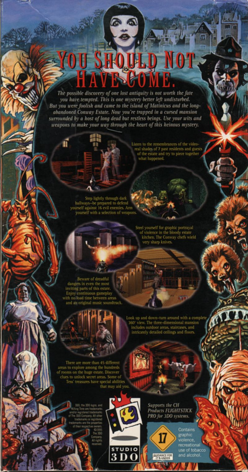 Killing Time 3DO Back Cover