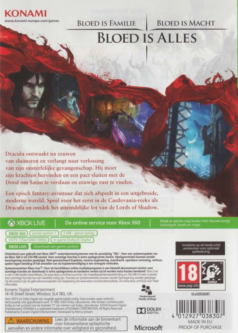 Castlevania Lords Of Shadow 2 2014 Xbox 360 Box Cover Art Mobygames
