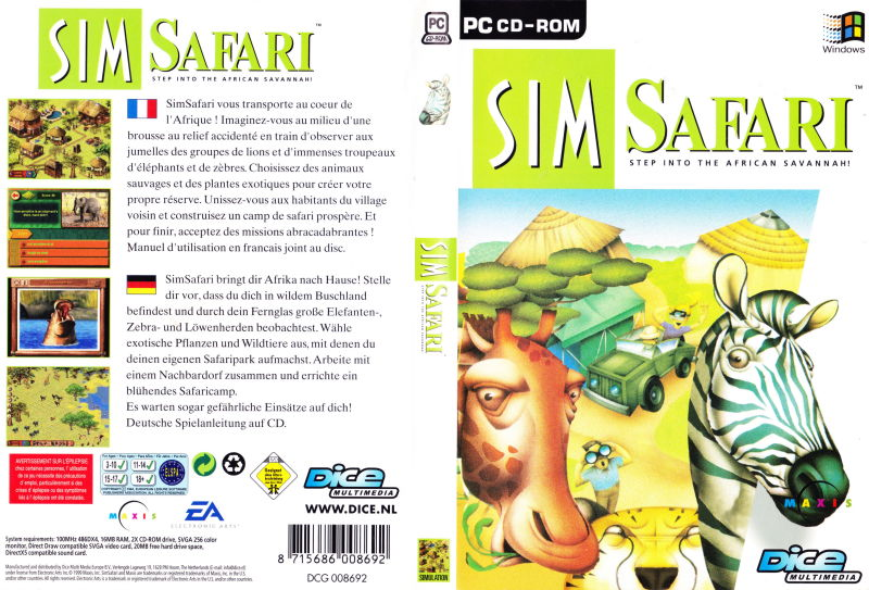 SimSafari Windows Full Cover