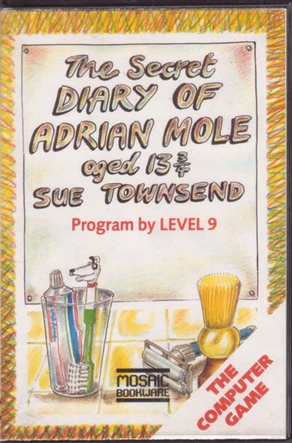 The Secret Diary of Adrian Mole Aged 13¾ Commodore 64 Front Cover
