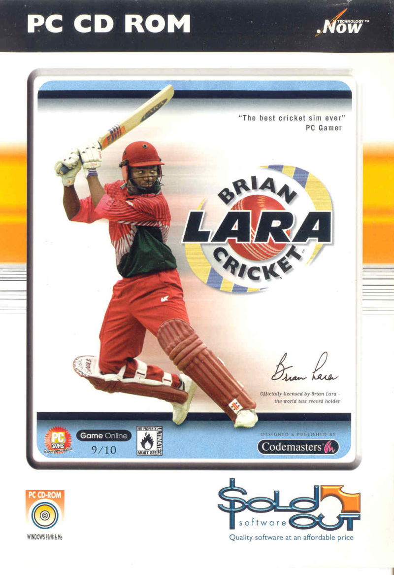 Brian Lara Cricket Windows Front Cover