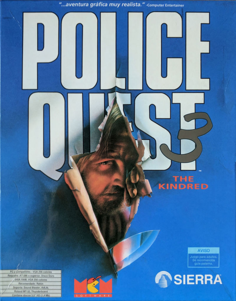 Police Quest 3: The Kindred DOS Front Cover
