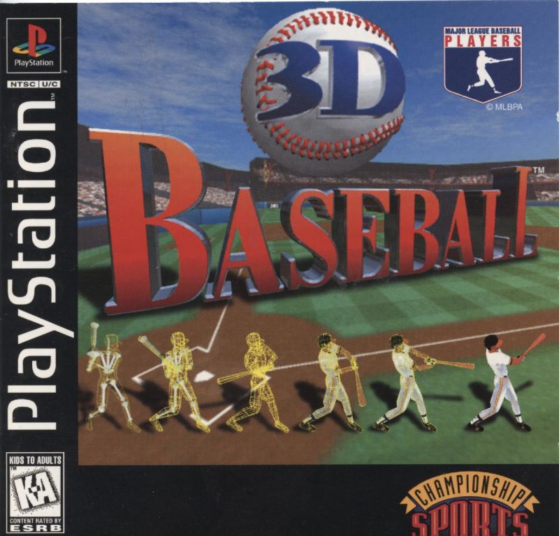 3D Baseball PlayStation Front Cover