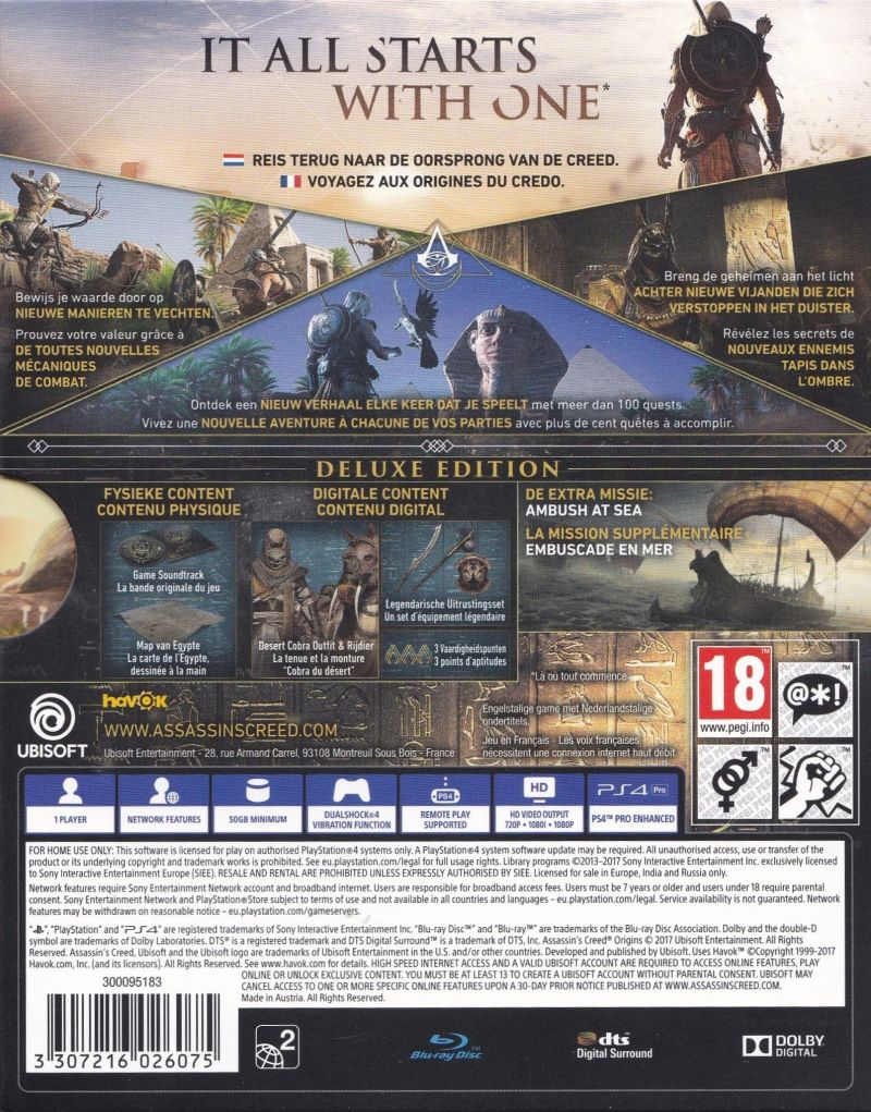 Assassin S Creed Origins Deluxe Edition 2017