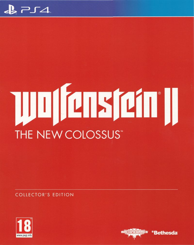 Wolfenstein II: The New Colossus (Collector's Edition) PlayStation 4 Front Cover