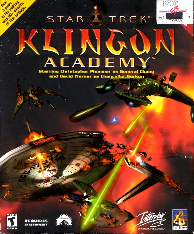 Star Trek: Klingon Academy Windows Front Cover