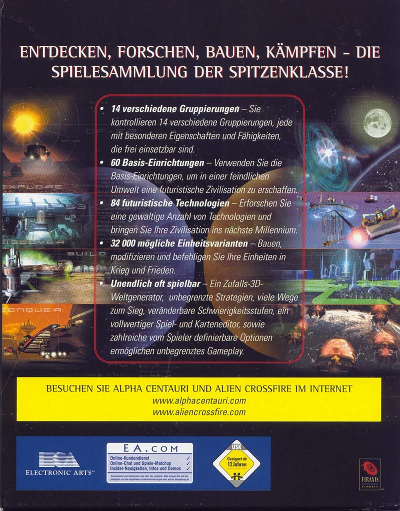 Sid Meier's Alpha Centauri Planetary Pack Windows Back Cover
