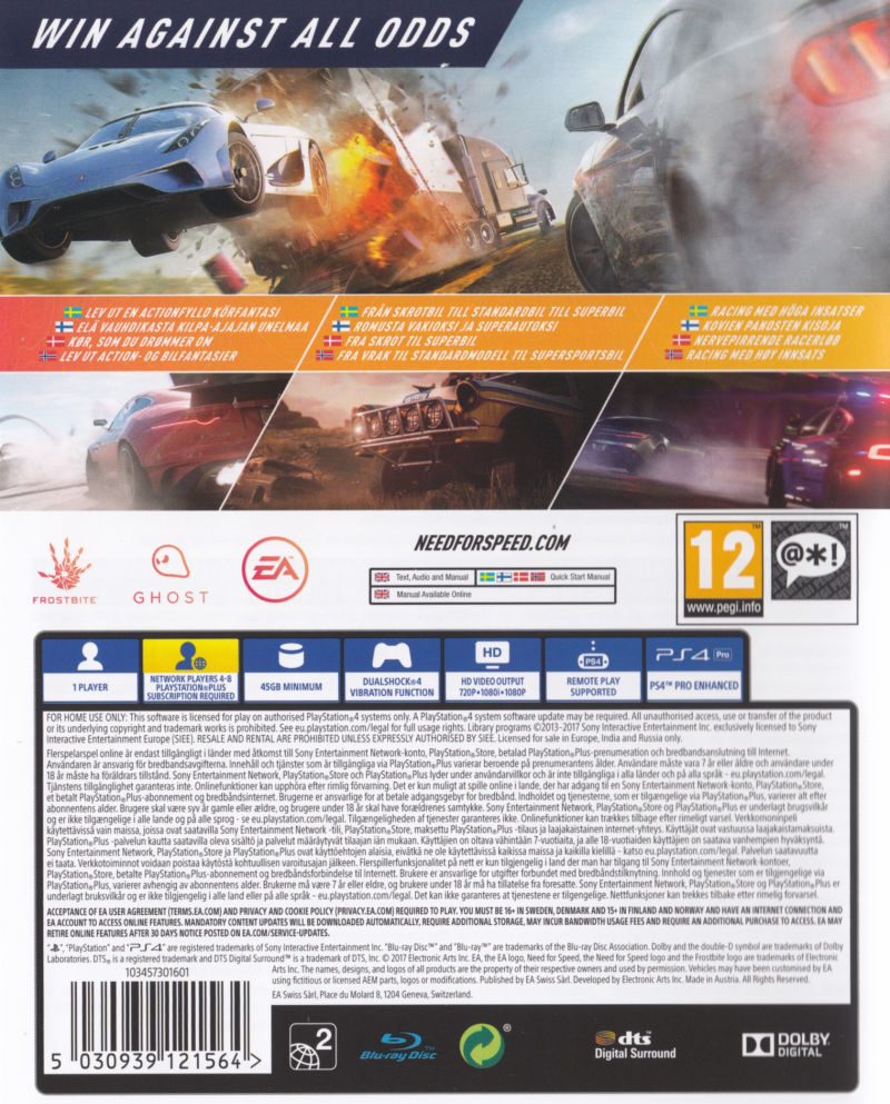 need for speed payback 2017 playstation 4 box cover art mobygames. Black Bedroom Furniture Sets. Home Design Ideas