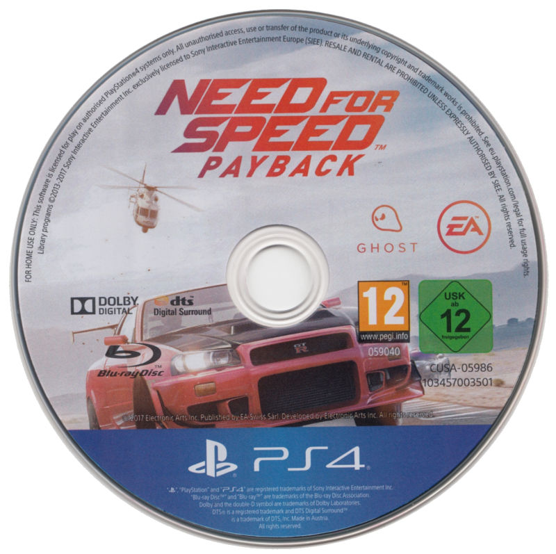 Need For Speed Payback PlayStation 4 Media
