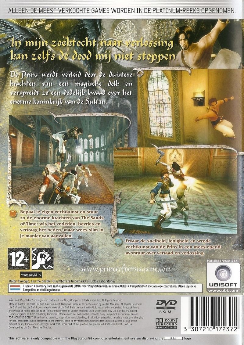Prince Of Persia The Sands Of Time 2003 Box Cover Art Mobygames