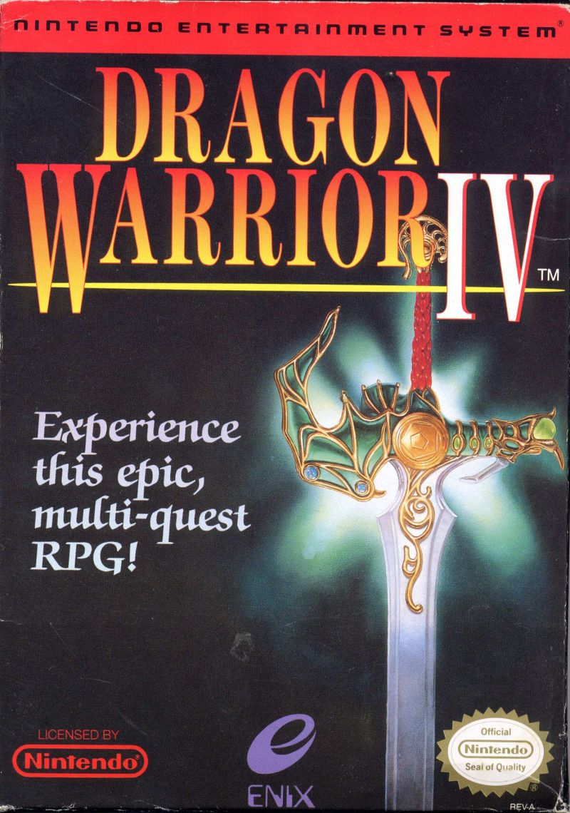 Dragon Warrior IV NES Front Cover
