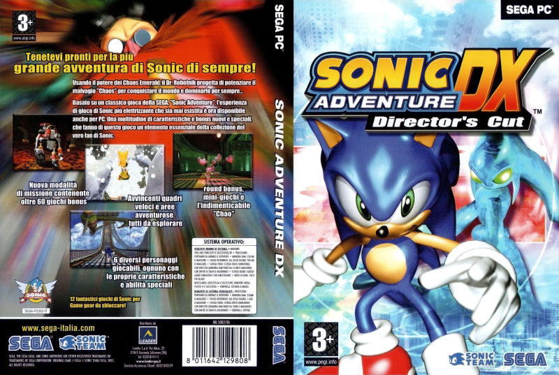 Sonic Adventure Dx Director S Cut 2003 Windows Box Cover Art Mobygames