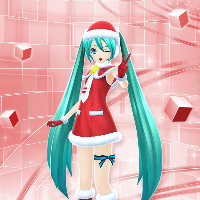 Hatsune Miku Christmas Outfit.Hatsune Miku Christmas Costume Module For Playstation 3