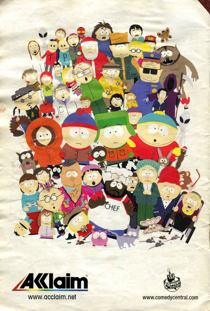 South Park Nintendo 64 Manual Back