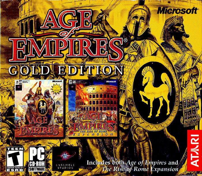 Age of Empires: Gold Edition (1999) Windows box cover art ...