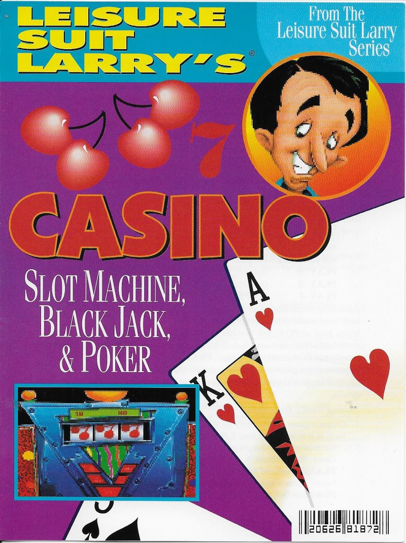 Crazy Nick's Software Picks: Leisure Suit Larry's Casino DOS Front Cover