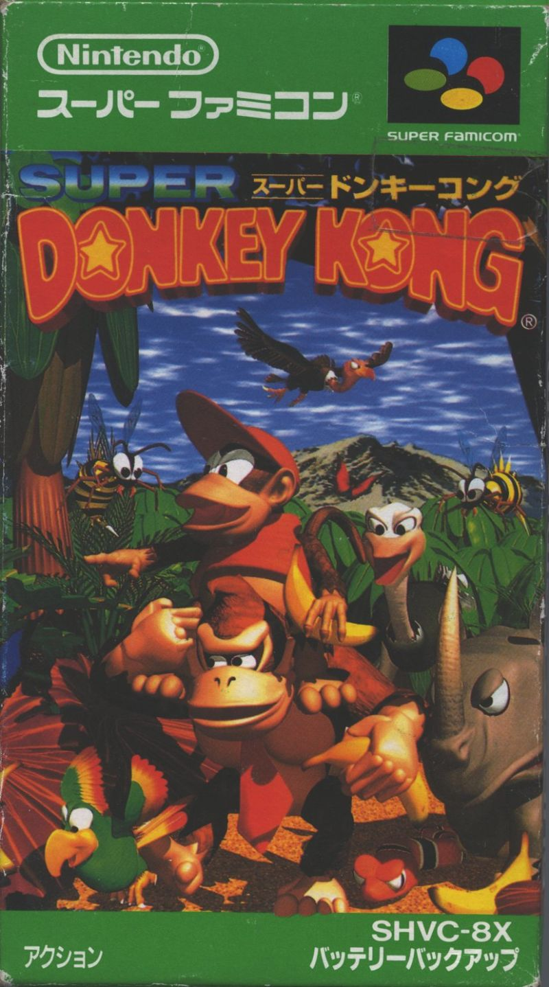 Donkey Kong Country (1994) SNES box cover art - MobyGames