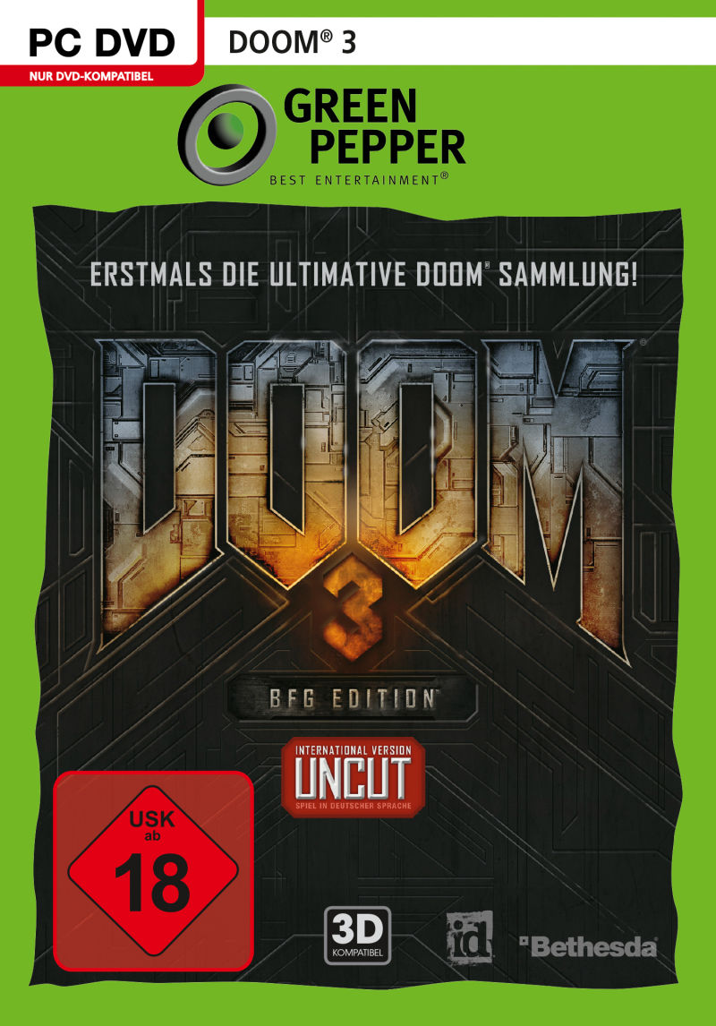 DOOM³: BFG Edition (2015) Android box cover art - MobyGames