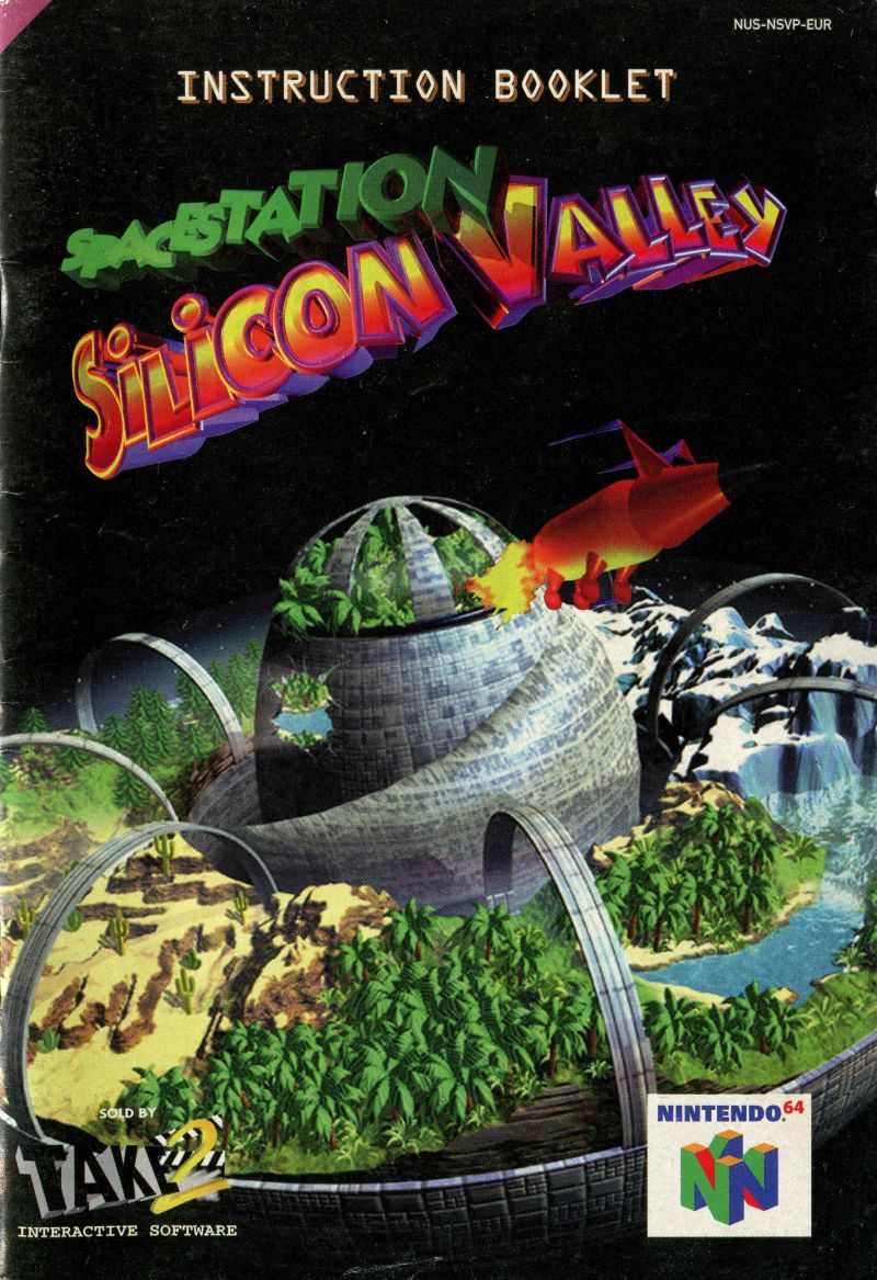 Space Station Silicon Valley Nintendo 64 Manual Front