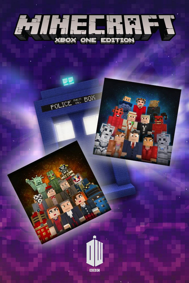 Book Cover Craft Xbox : Minecraft xbox one edition doctor who skins i ii