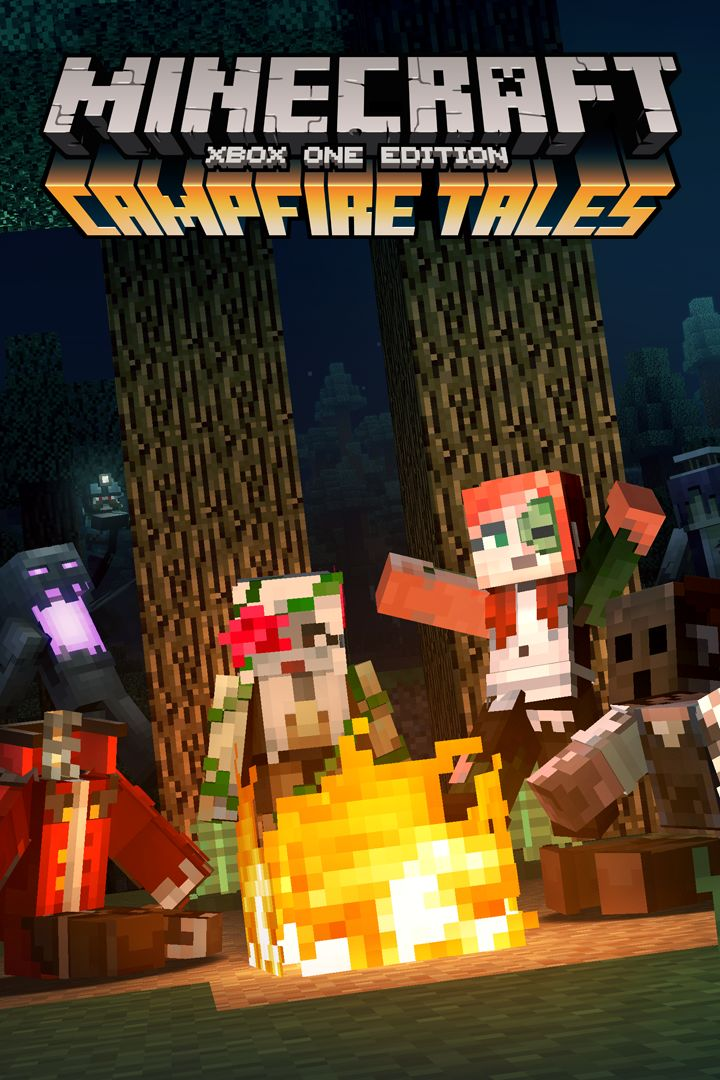 Book Cover Craft Xbox ~ Minecraft xbox one edition campfire tales skin pack