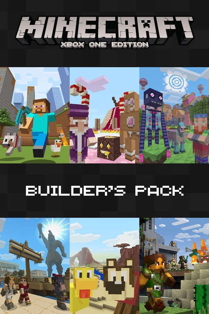 Book Cover Craft Xbox One ~ Minecraft xbox one edition builder s pack