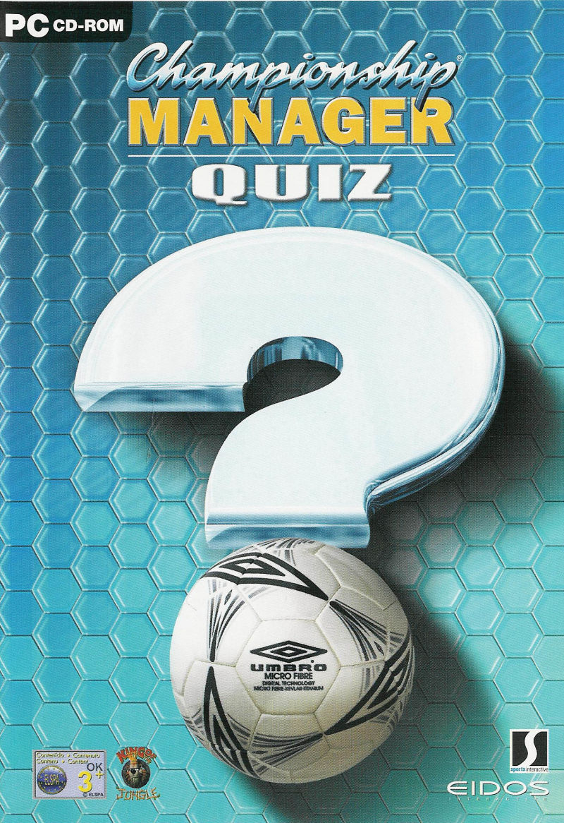 Championship Manager Quiz Windows Front Cover