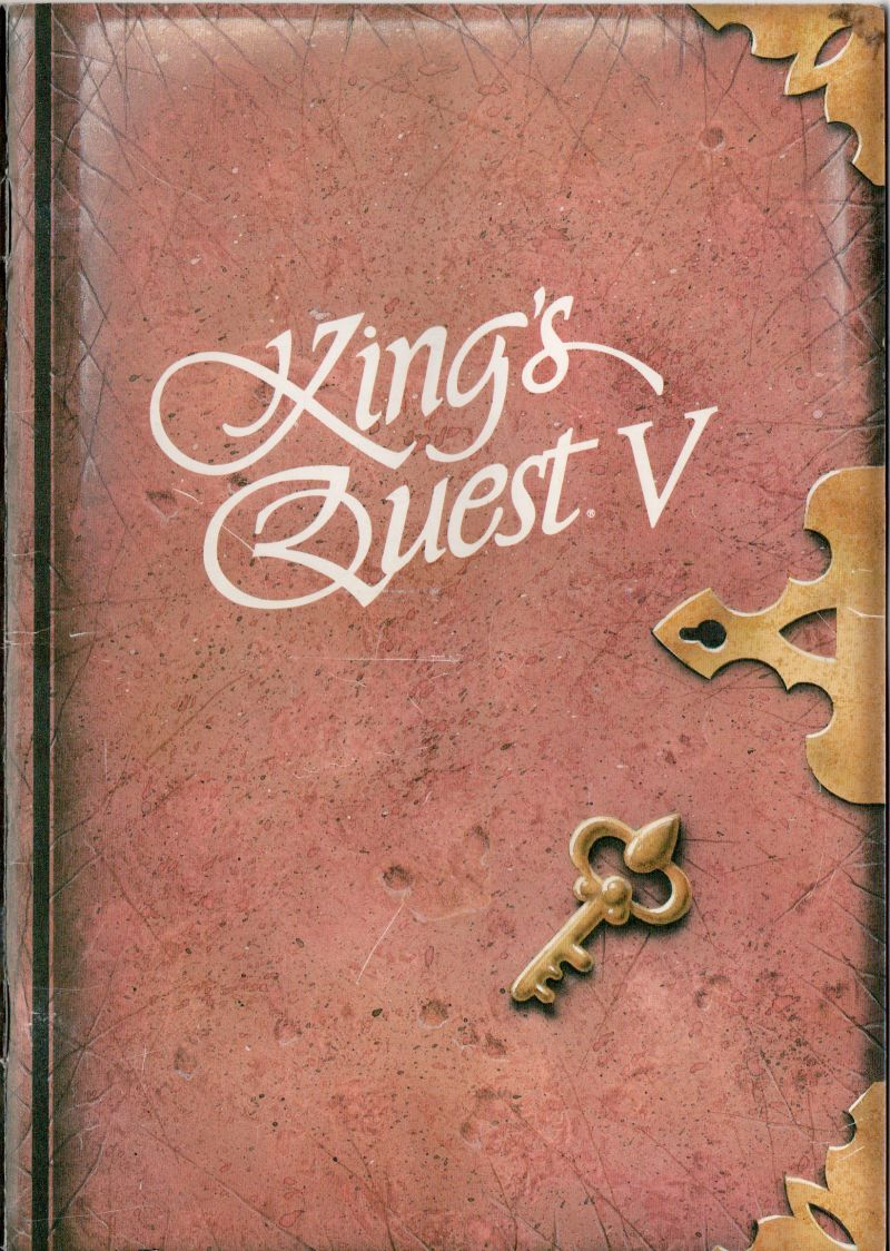 King's Quest V: Absence Makes the Heart Go Yonder! Amiga Manual Front