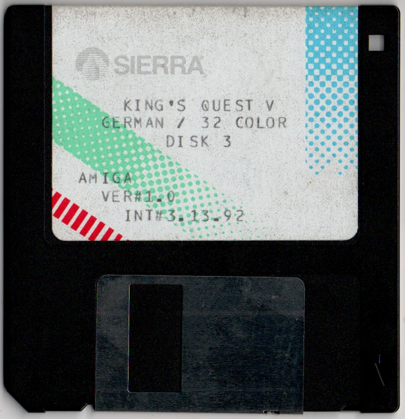 King's Quest V: Absence Makes the Heart Go Yonder! Amiga Media Disk 3